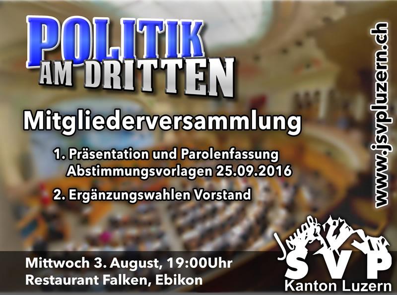 Politik am Dritten – August: Mitgliederversammlung