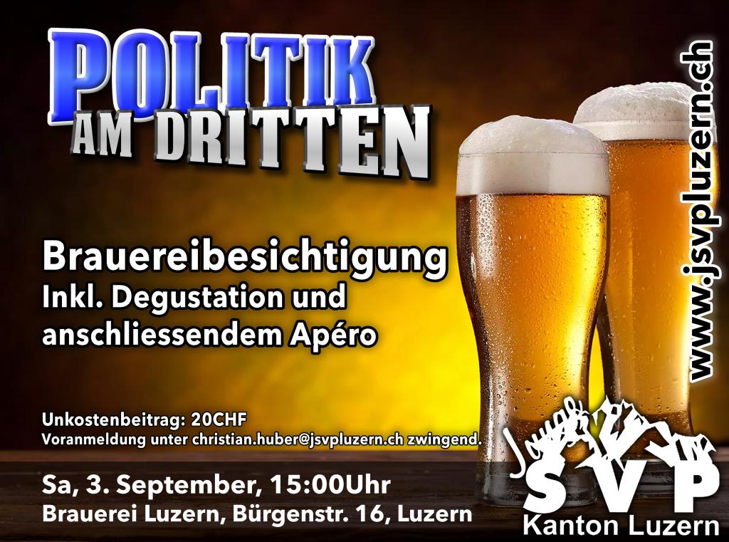 Politik am Dritten – September: Brauereibesichtigung