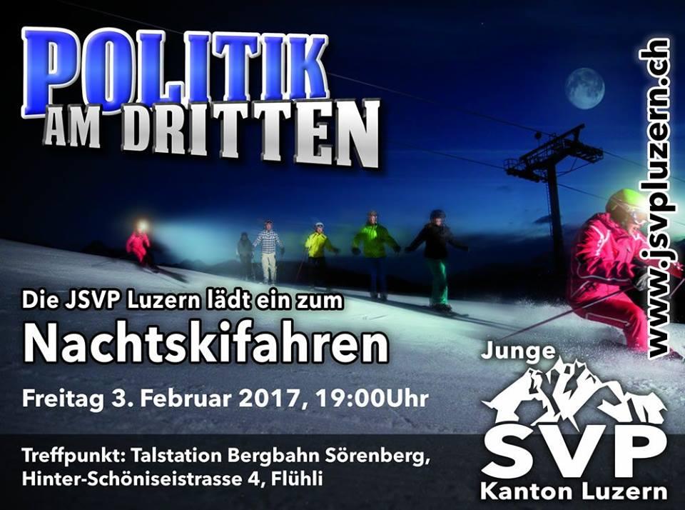 Politik am Dritten Februar – Nachtskifahren