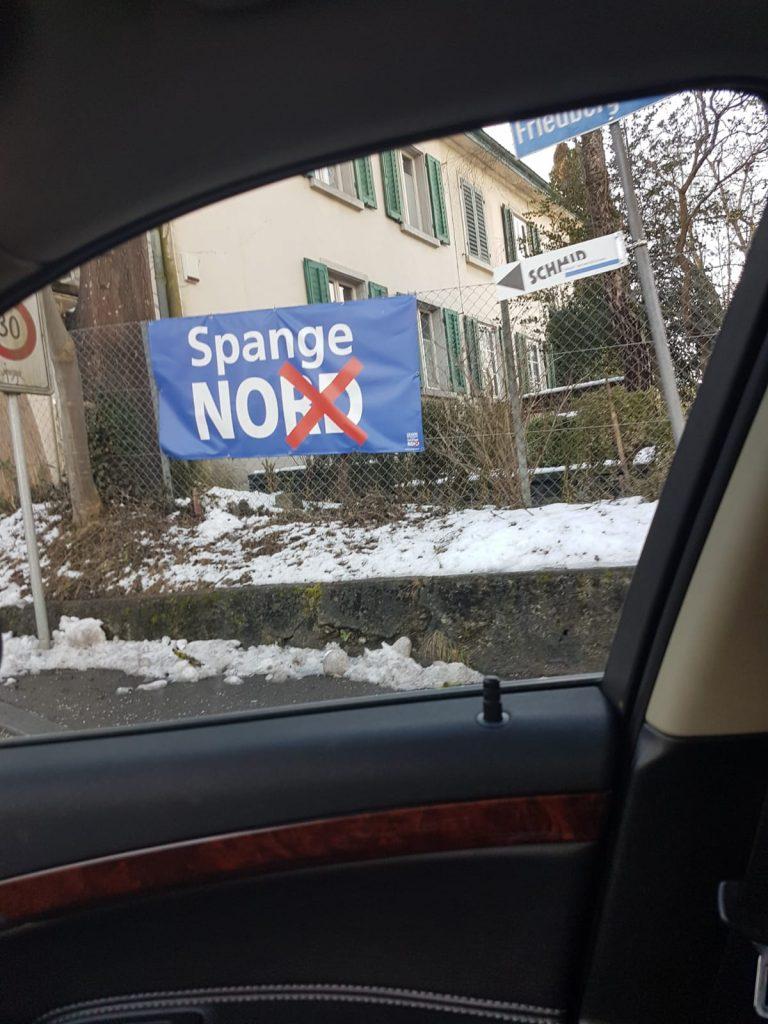 Offener Brief zu den bewilligungspflichtigen Spange Nord Plakaten